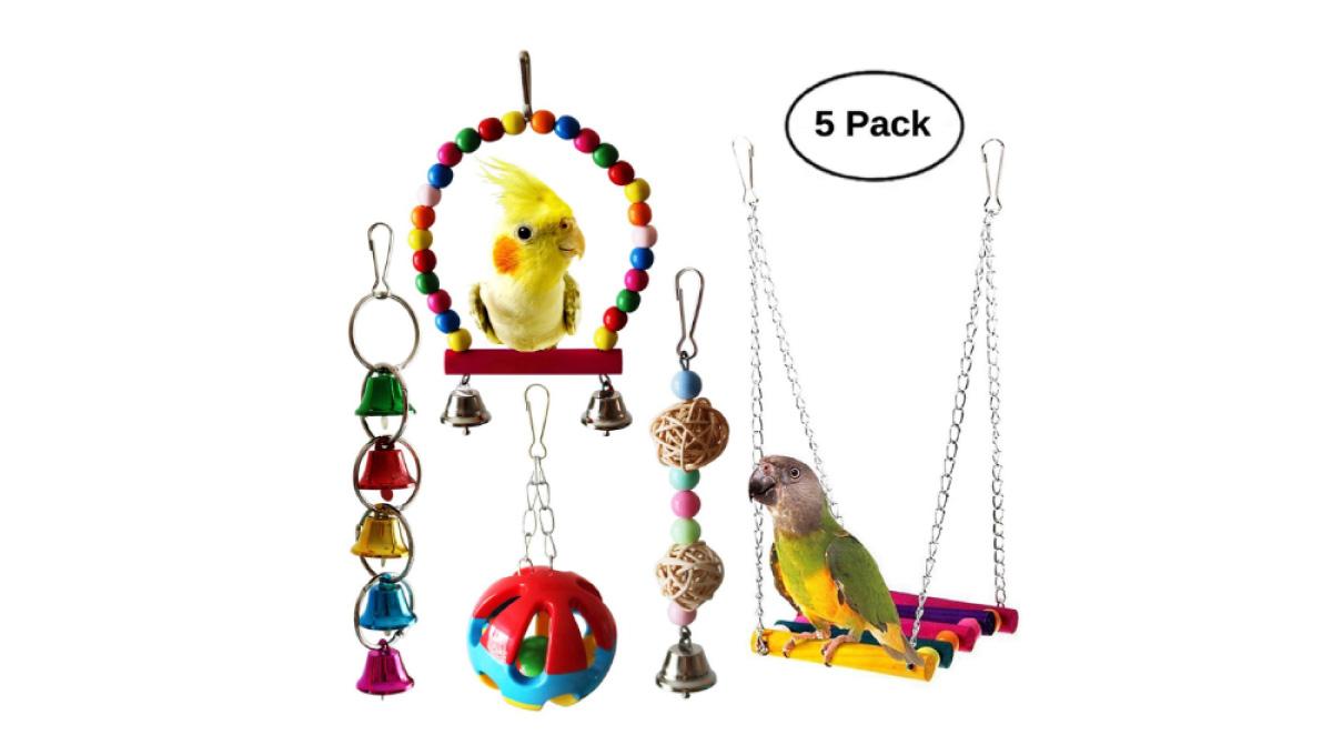 BWOGUE-5pcs-Bird-Parrot-Toys-Hanging-Bell-Pet-Bird