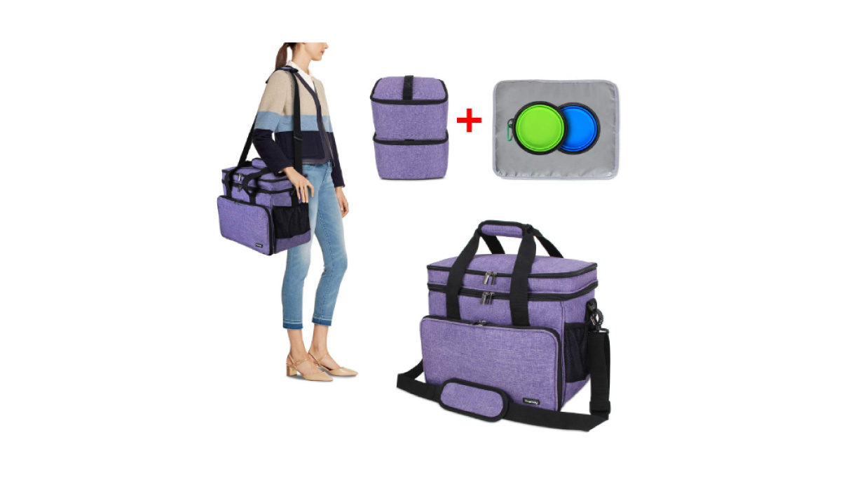 Teamoy-Double-Layer-Dog-Travel-Bag