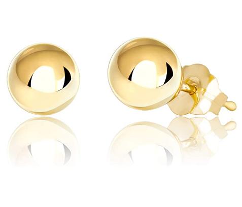 Best 14K Gold Ball Stud Earrings Online 2020