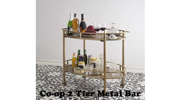 Gold Metal Bar Cart