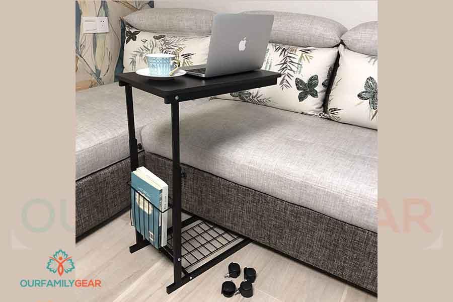 side tables that slide under sofa,