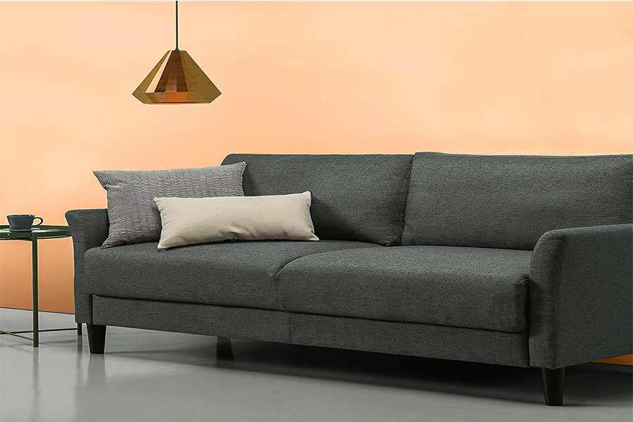 fabric sofa bed with storage,