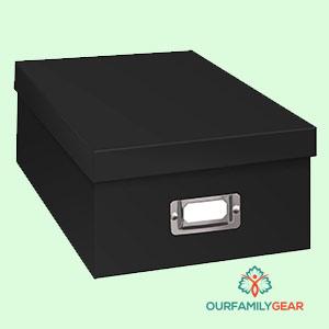 rubbermaid photo & media storage box,