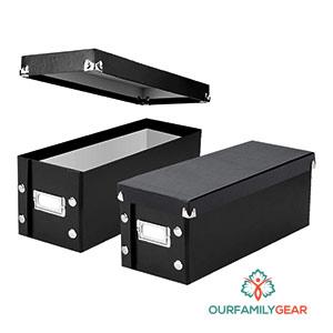 rubbermaid photo and media storage box,