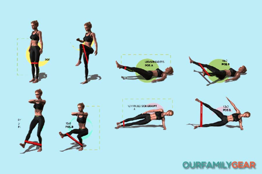 how to use exercise bands at home,