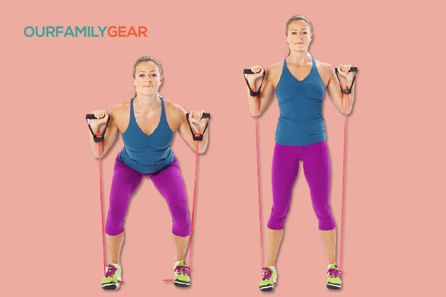 how to use exercise bands for abs,