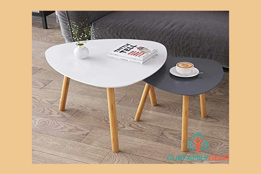 round bamboo coffee table, faux bamboo coffee table,