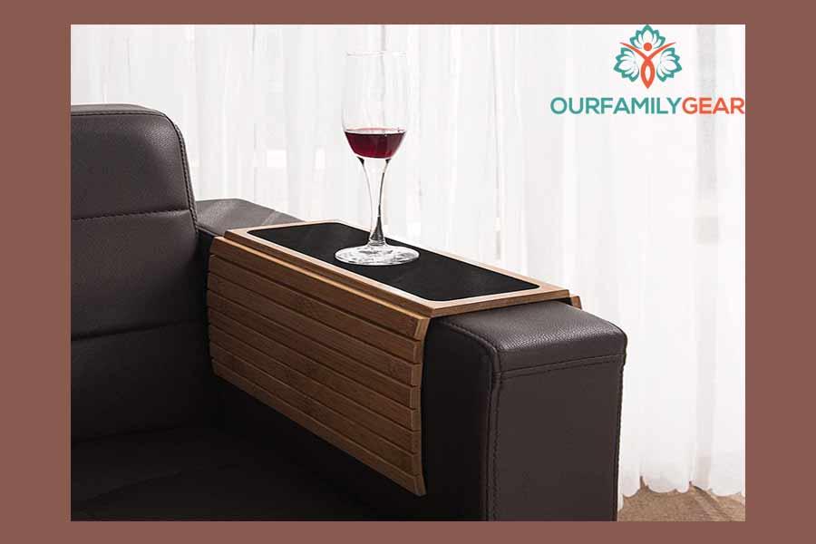 blue coffee table, white oak coffee table,