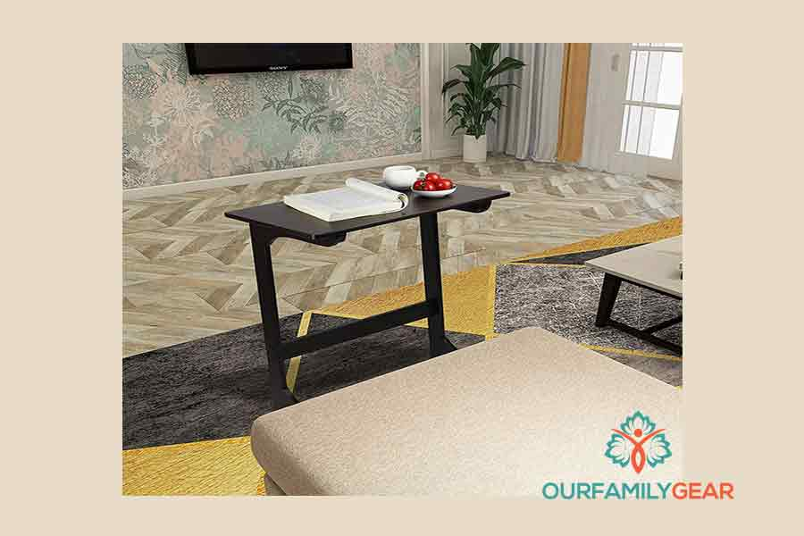 bamboo coffee table, block coffee table, blue coffee table,