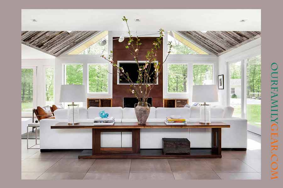 how tall should a sofa table be, how to style a sofa table, what to put on a sofa table,