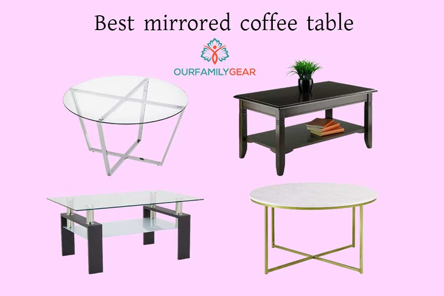 mirrored coffee table,