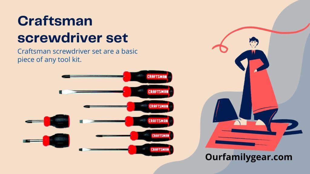 hand tools craftsman screwdriver set