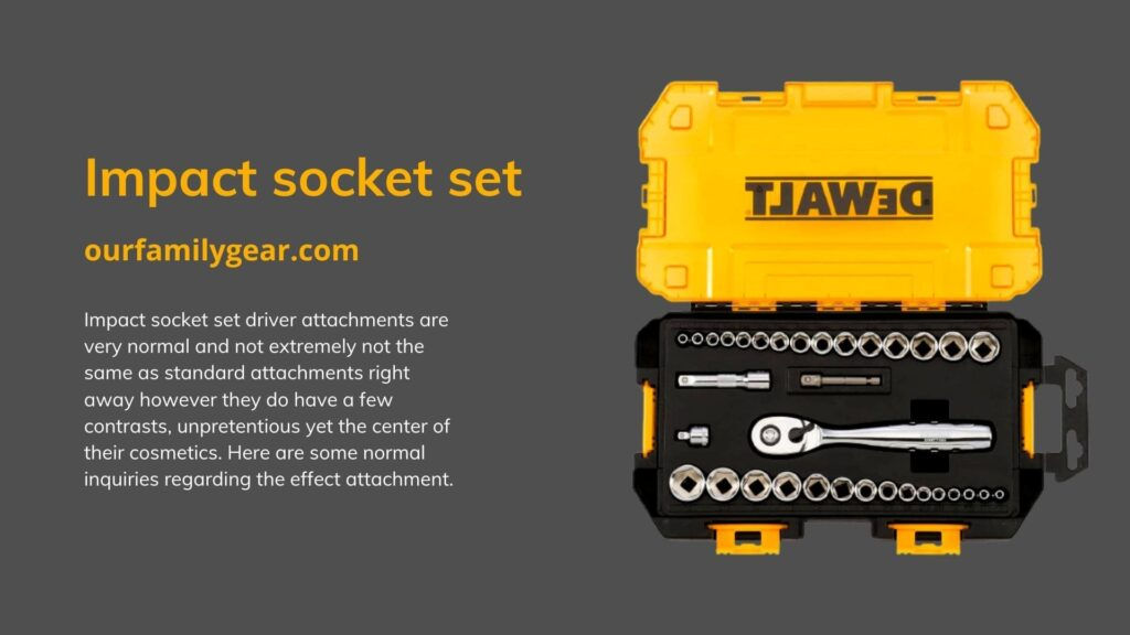 hand tools impact socket set