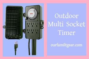 Socket Timer outdoor power strips