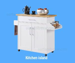 white kitchen cabinets Kitchen Island Spice Rack